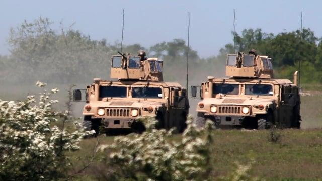 Humvee-Fahrzeuge der US-Armee.
