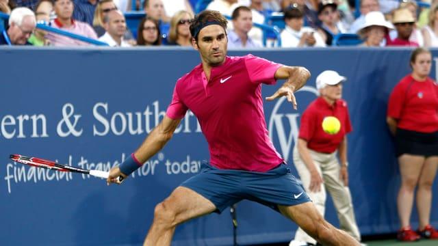Roger Federer steht im Final von Cincinnati.