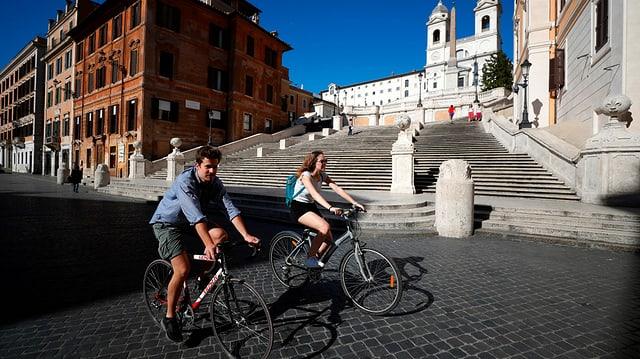 Velofahrer in Rom
