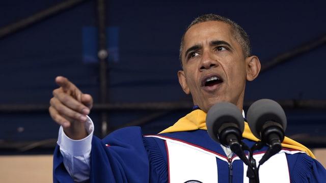 Barack Obama durant ses pled.