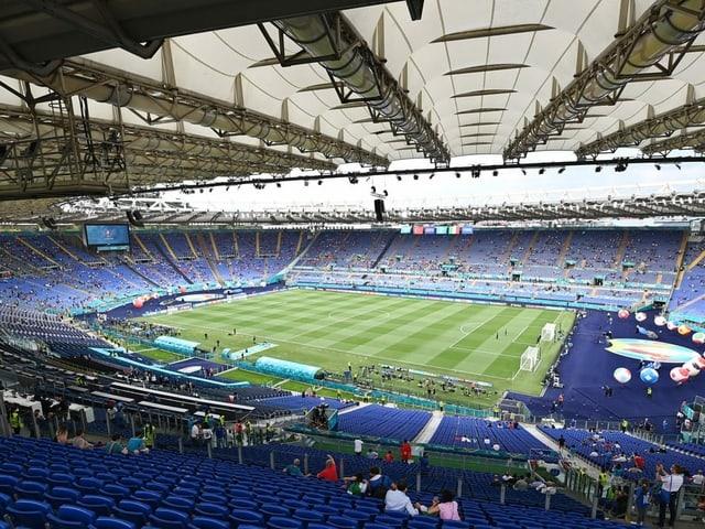 Das Olympiastadion in Rom ist am Mittwoch die nächste Spielstätte.