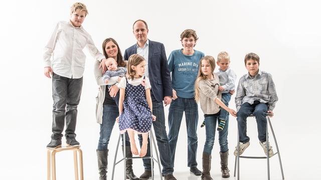 Familie von Christine Bachmann: sieben Kinder.