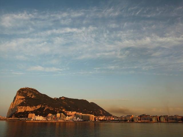 Der Felsen von Gibraltar.