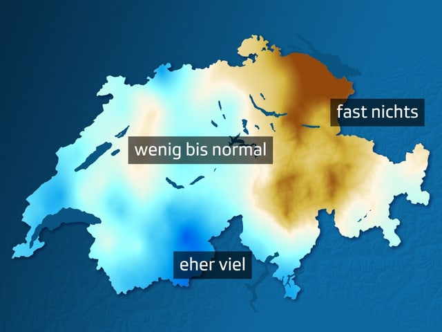 Karte, im Osten braun, im Westen blau