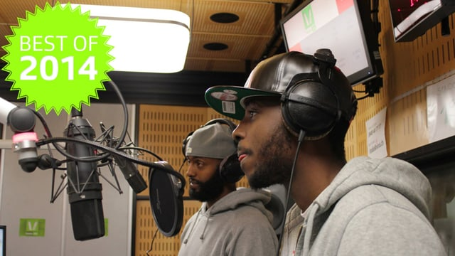 Makala live im Studio bei Bounce