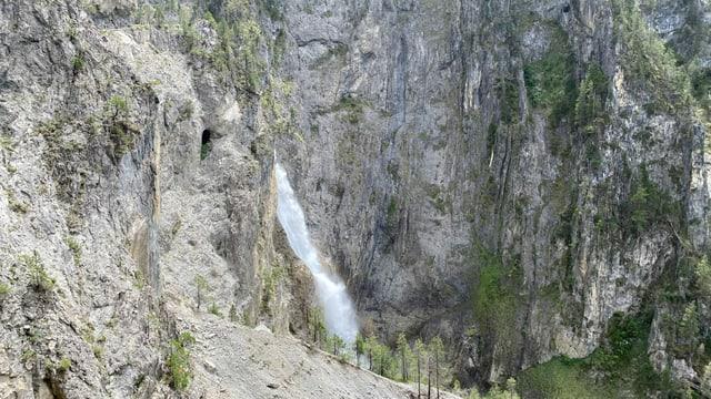 La cascada dal Schaftobel.