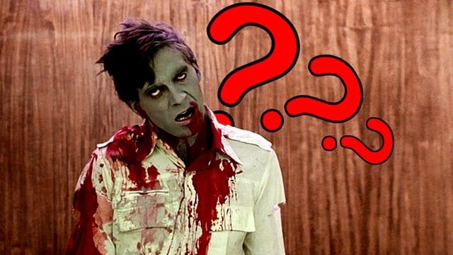 Ein Zombie stellt sich viele Fragen.