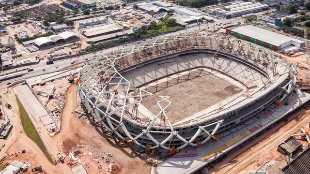 Panorama-Bild über Stadion in Manaus.