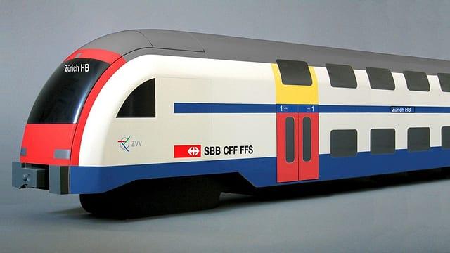 Ein Zug des Zèrcher Verkehrsverbunds in einer Modellansicht