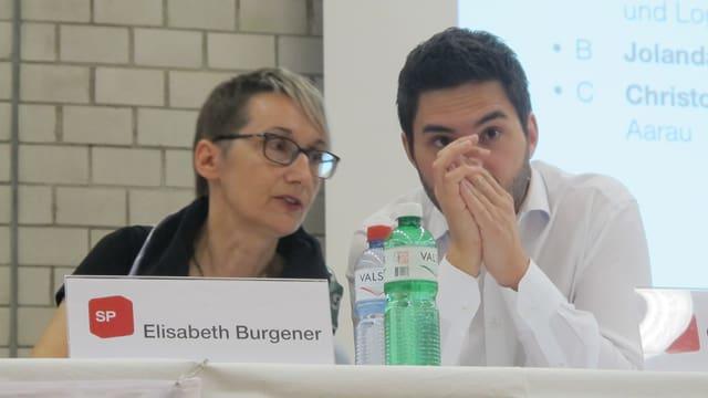Burgener und Wermuth im Gespräch