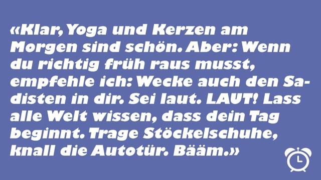 Aufsteh-Tipp von Rahel Giger