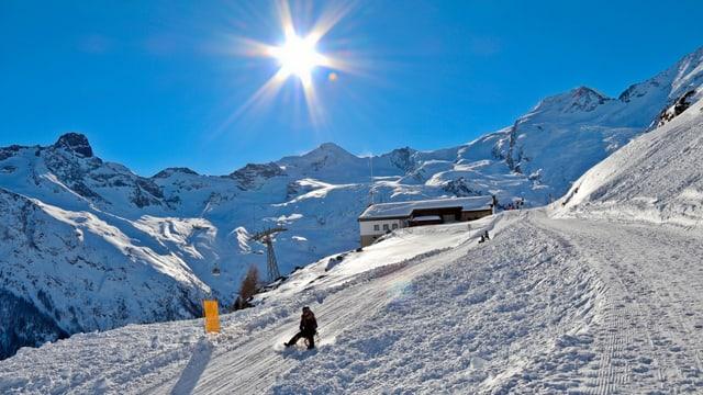 Im letzten Winter gab es an Neujahr ein Wintermärchen bei wolkenlosem Himmel.