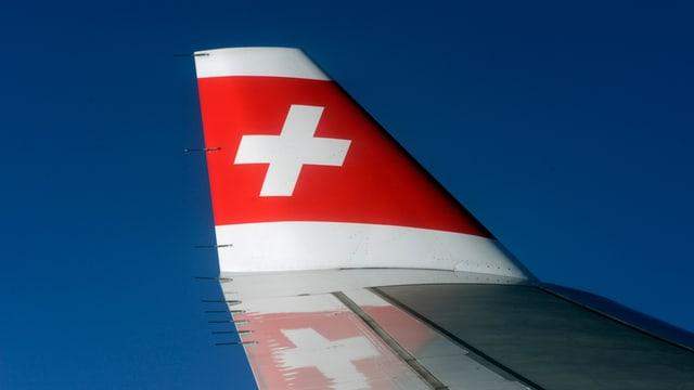 Heckflosse eines Swiss-Fliegers