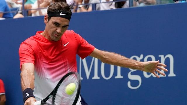Roger Federer en acziun al US Open.