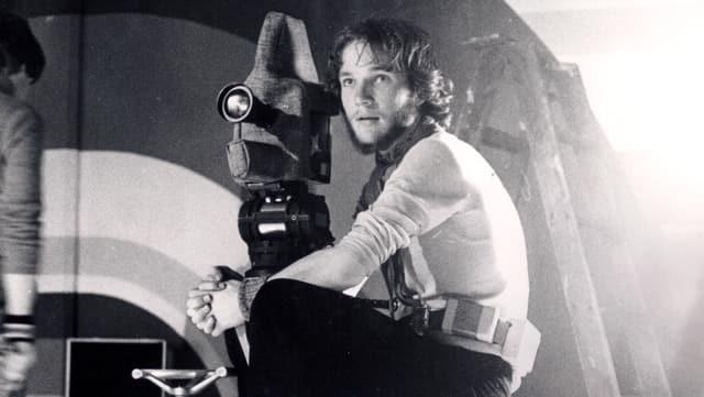 Christian Frei mit Kamera bei seinem ersten Dreh.