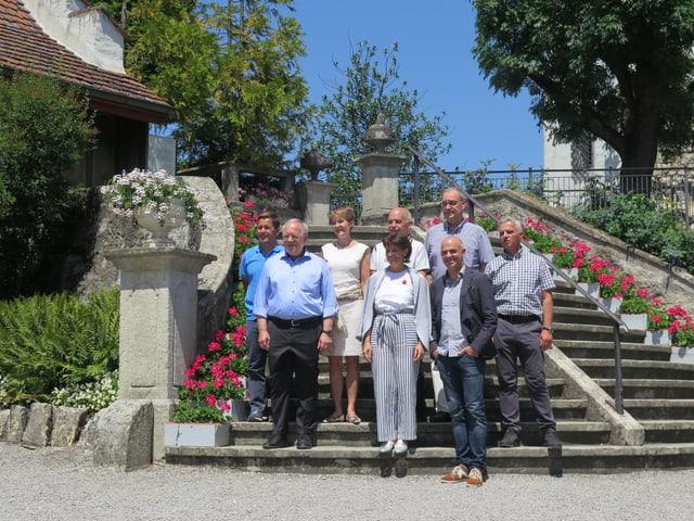 Der Bundesrat auf Schloss Wildegg