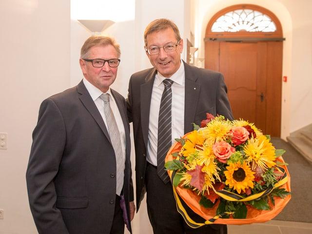 Neu gewählte Ständeräte Isidor Baumann und Josef Dittli.