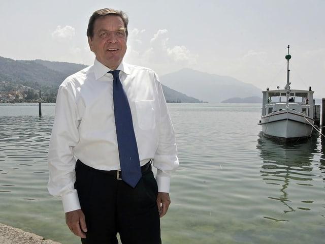Gerhard Schröder am Zugersee.