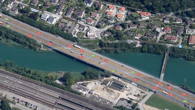 Die Brücke aus der Luft