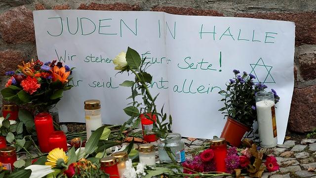 Trauerbekundung in Halle