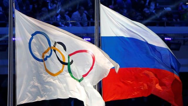 Las bandieras dal IOC  e da la Russia