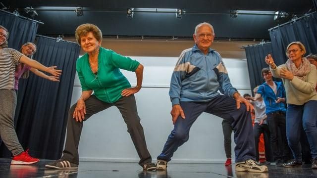 Ils dus stars dal saut. Marili Gadola (84) e Pius Bundi (90).
