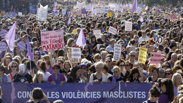Demonstrierende Menge.