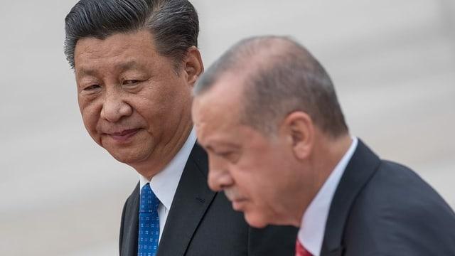 Der chinesische Präsident Xi Jinping mit seinem türkischen Amtskollegen Erdogan, 2019 in Peking.