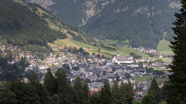 Luftbild von Engelberg