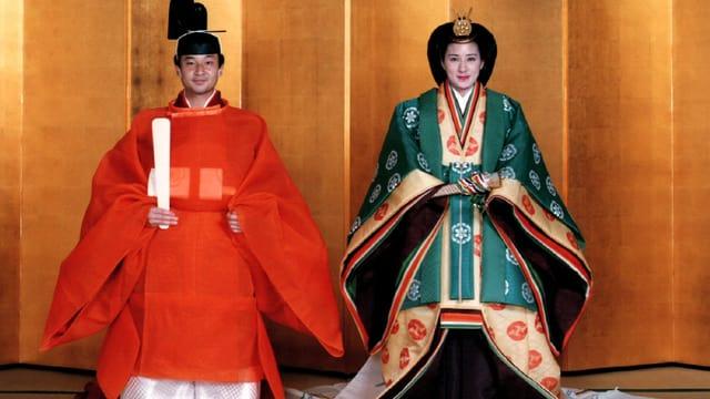 Hochzeit von Kronprinz Naruhito und Kronprinzessin Masako.