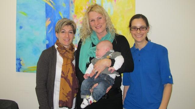 Fabienne Zenger, Caroline Zwahlen und Aline Eicher (v.l.)
