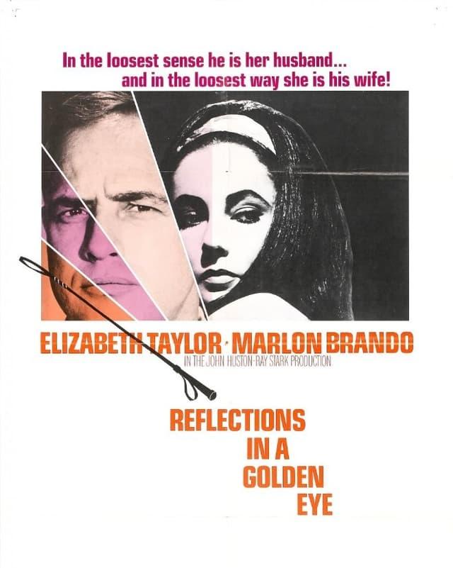Das Filmplakat von «Reflections in a Golden Eye» mit Marlon Brando und Elizabeth Taylor.