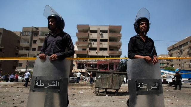 Polizisten in Kairo.