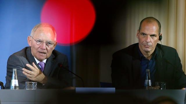 Der ehemalige deutsche Finanzminister Schäuble mit seinem griechischen Amtskollegen Varoufakis