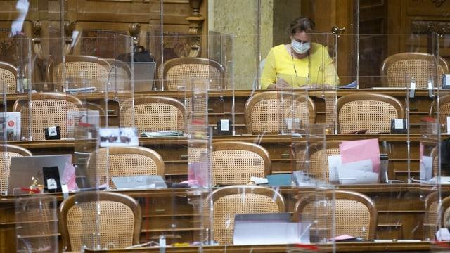 Detail aus dem Nationalratssaal in Bern.