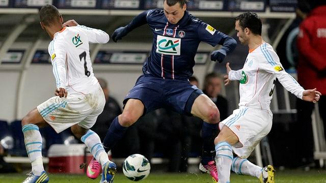 Ibrahimovic traf gegen Marseille zweimal.