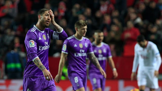 Sergio Ramos und seine Teamkollegen.