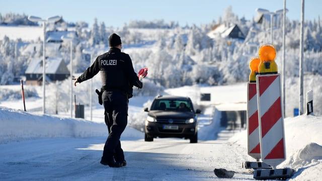 Grenzkontrolle an tschechisch-deutscher Grenze