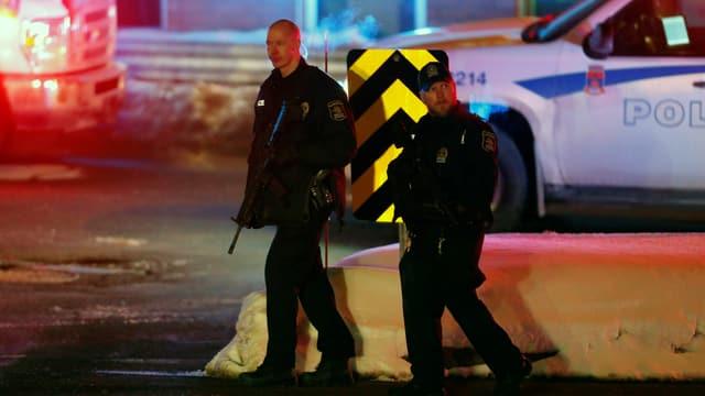 La polizia è preschenta a Quebec.
