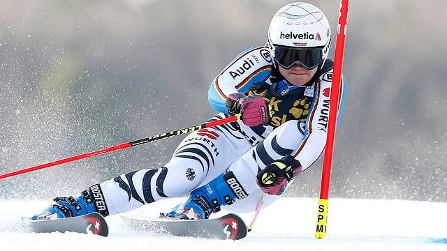 La skiunza tudestga Victoria Rebensburg.