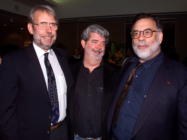 Walter Murch mit George Lucas und Francis Ford Coppola.