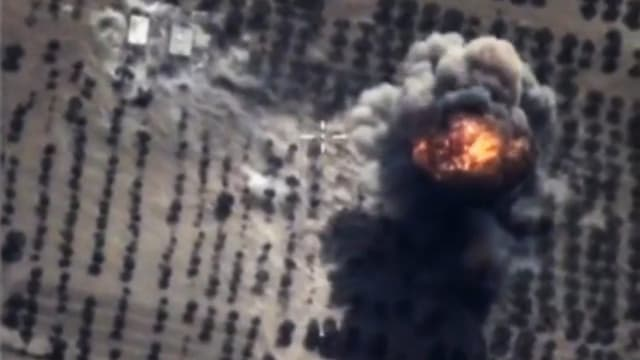 Bumbardament russ da la Siria, vista ord l'aria.