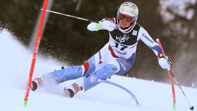 Michelle Gisin am Skifahren