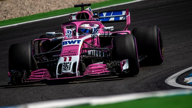 Sergio Perez da Force India en auto da furmla 1.