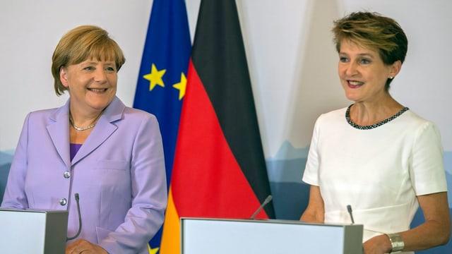 Angela Merkel e Simonetta Sommaruga han discurrì davart la relaziun dals dus pajais.