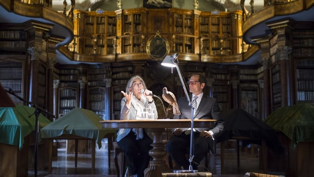 Donna Leon in der Stiftsbibliothek St. Gallen