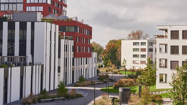 Das Suurstoffi-Areal in Rotkreuz, Zug.