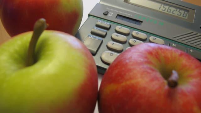 Äpfel und Taschenrechner