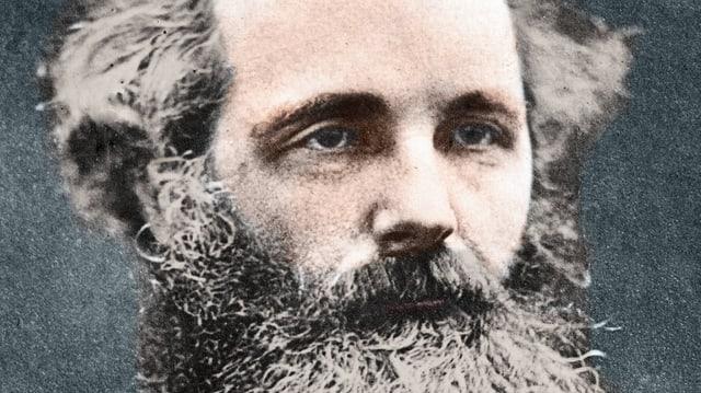 Ein koloriertes Portrait von James Clerc Maxwell.