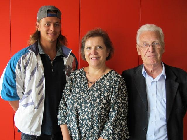 Leon Haueter, Silvia Gilliand und Primo Micheluzzi.